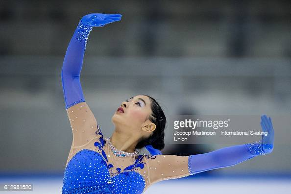 Haley Yao of Taipei competes during the Junior Ladies Short Program on day one of the ISU Junior Grand Prix of Figure Skating on October 6 2016 in...
