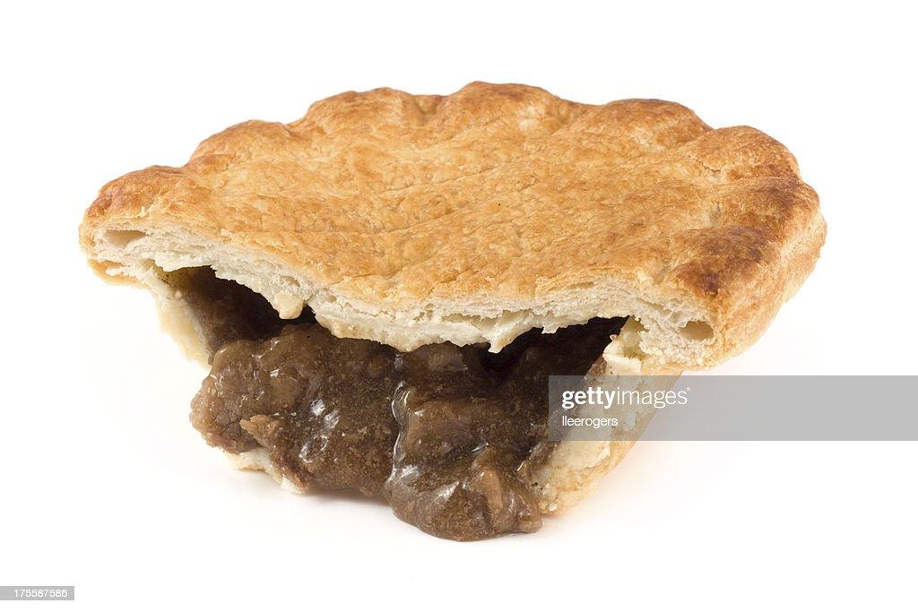 Half a steak pie : Stock Photo