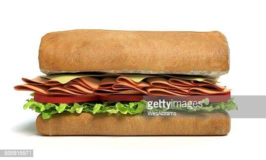Half a Sub Sandwich : Stock Photo