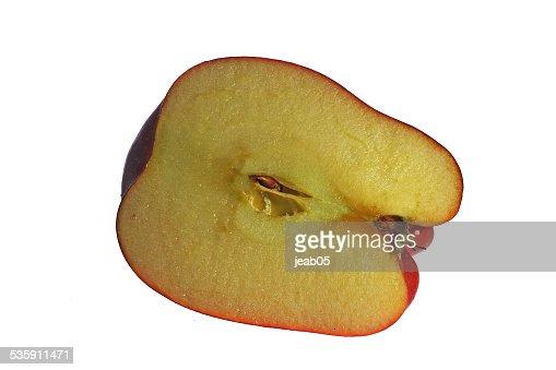 Mitad de manzana : Foto de stock