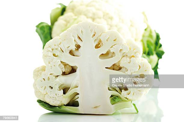 'Half cauliflower, close-up'