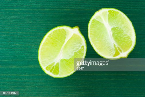 Half cut limes : Stock Photo