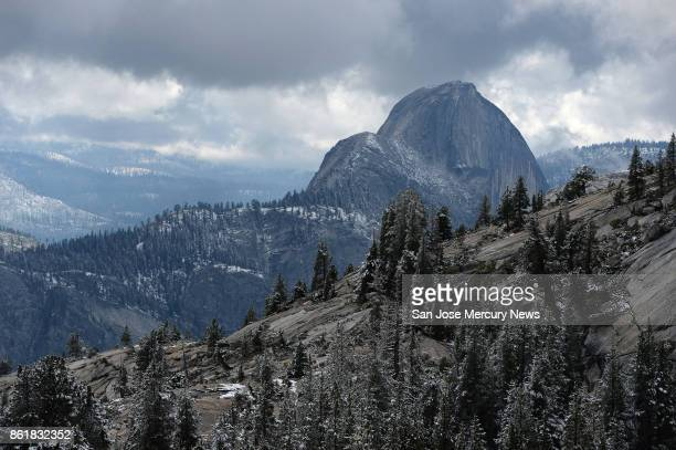 Half Dome as seen on Thursday Sept 21 2017 from Olmsted Point in northern Yosemite National Park in the central Sierra Nevada mountains of California