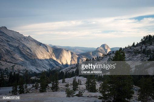 Half Dome at sunset : Stock Photo