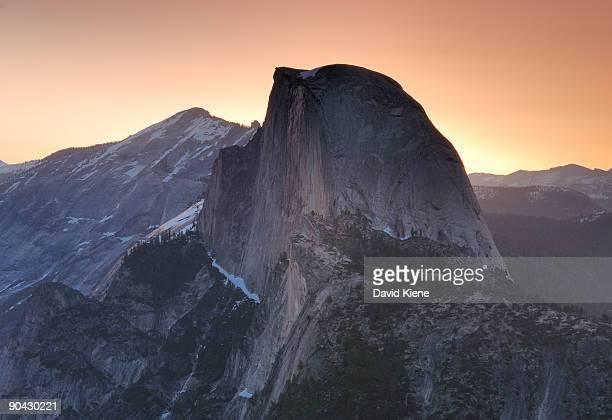 Half Dome with sunrise