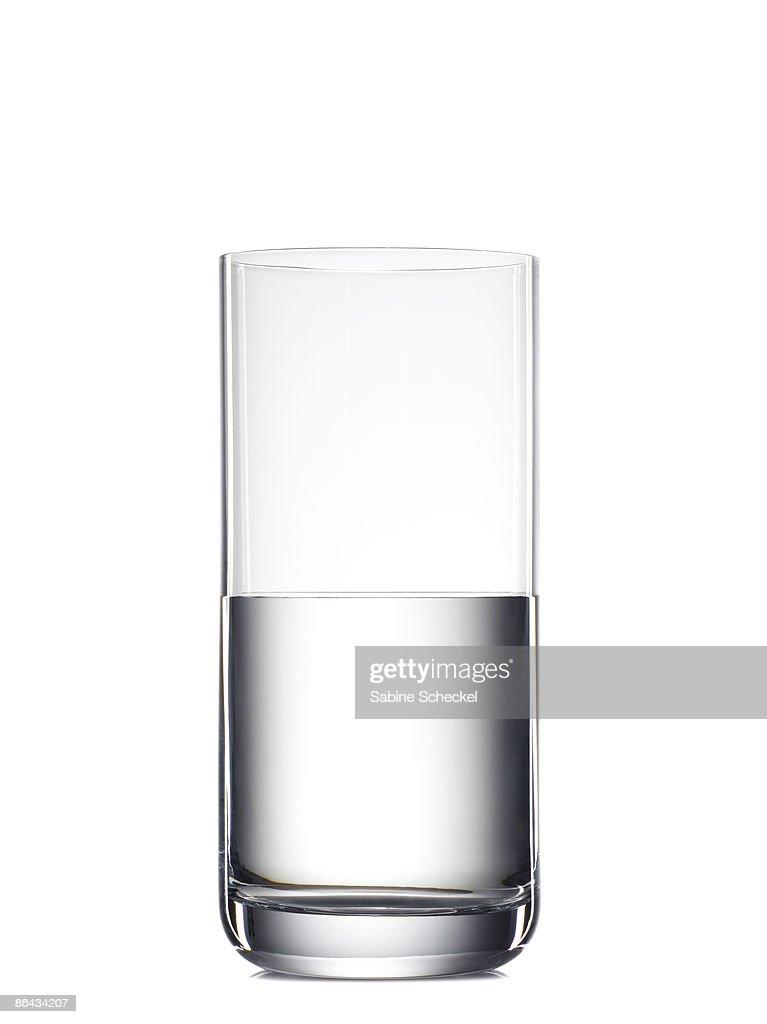 half full glass of water or half empty