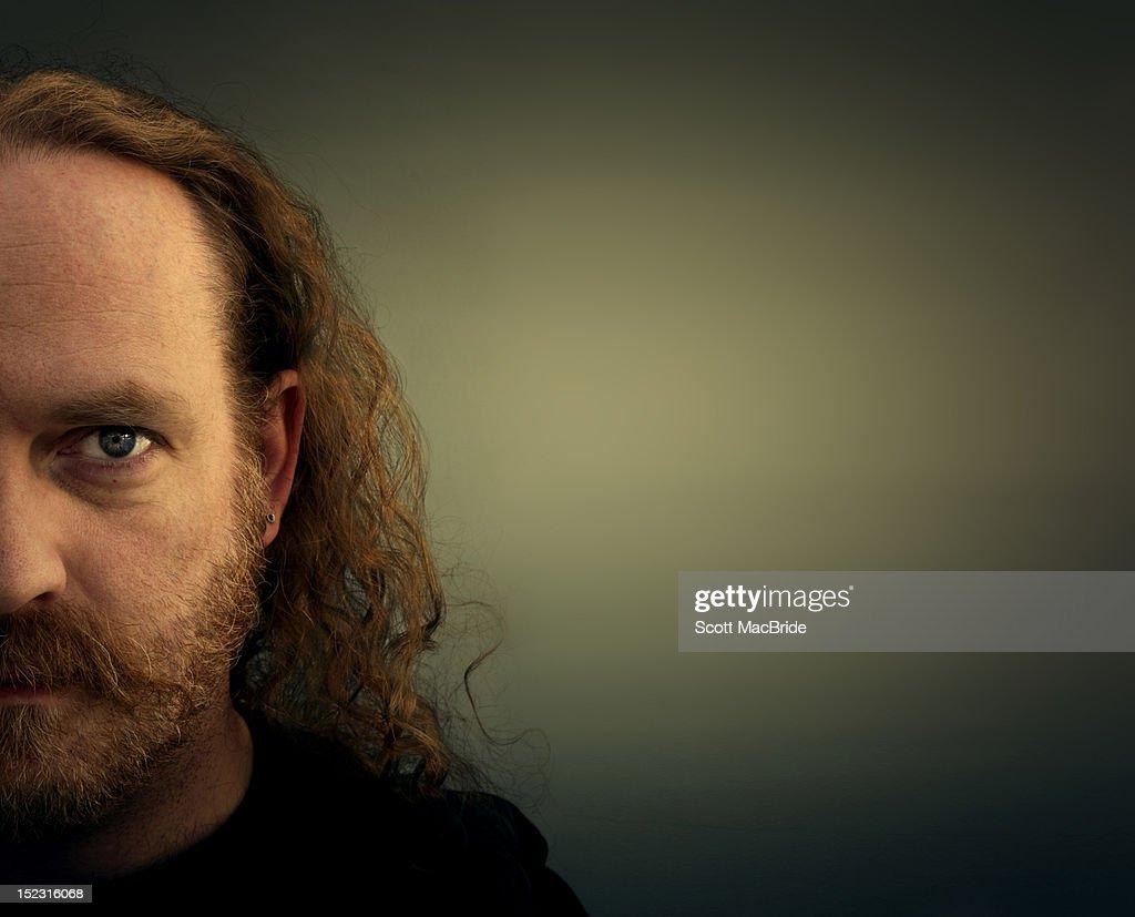 half  man face : Stock Photo