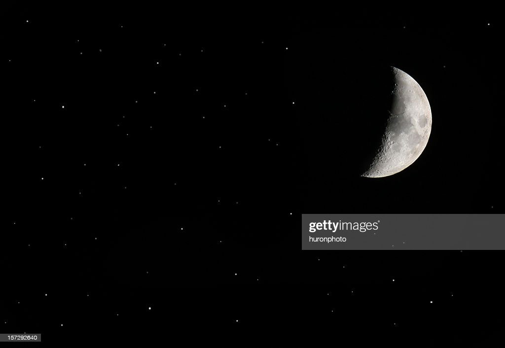 half moon and stars