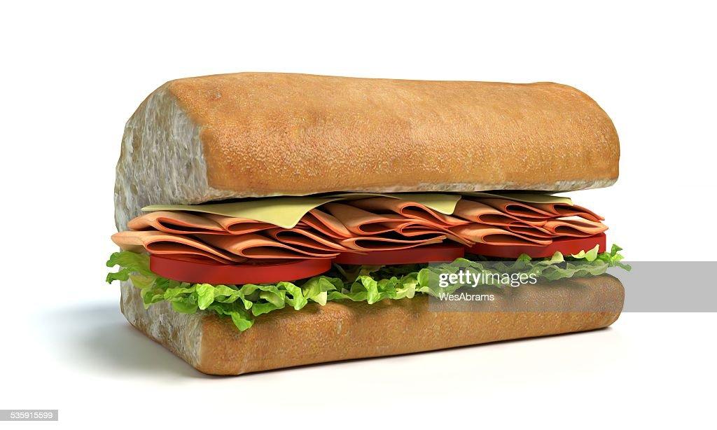 Half of a sub sandwich : Stock Photo