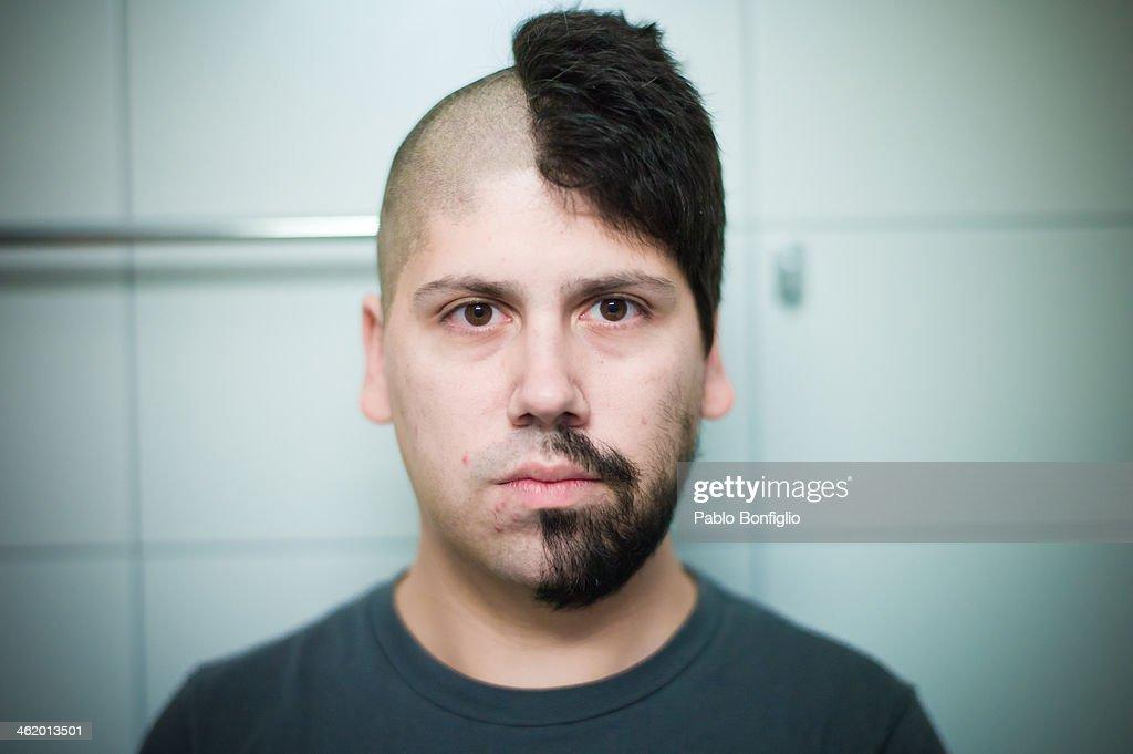 Half shaved head