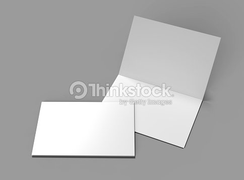 Halffold Horizontal Brochure Blank White Template For Mock Up And - Brochure blank template