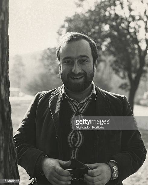 Halflength portrait of the singer Lucio Dalla Milan March 1968