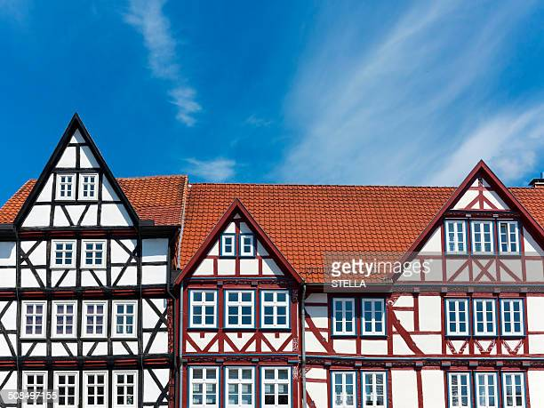 Half-timbered houses in the market square of Eschwege, Werra-Meissner district, Hesse, Germany, Europe