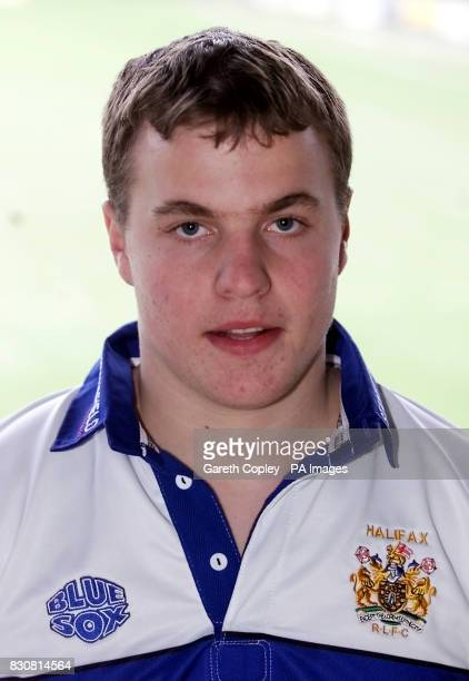 Halifax Blue Sox's Liam Finn poses for the camera during the photocall prior to the start of the new Super League