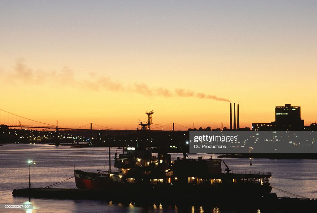 Halifax Harbour at dusk, Nova Scotia, Canada