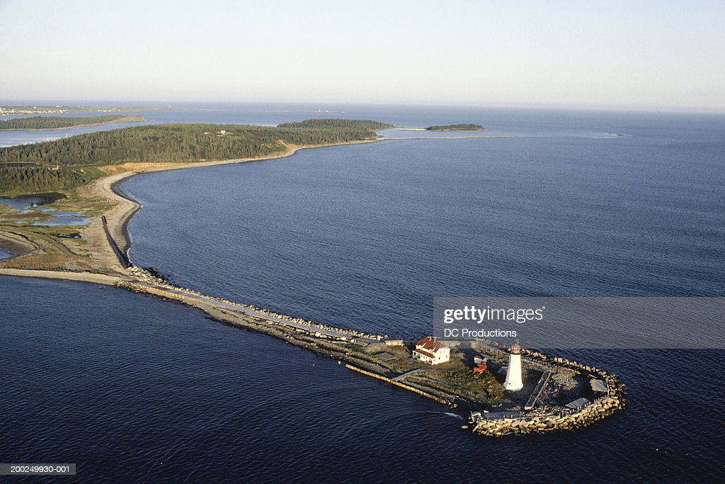 Halifax Harbour, Nova Scotia, Canada, aerial view