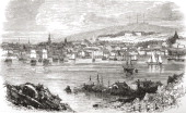 Halifax Nova Scotia Canada In The Late 19Th Century From North America Published 1883