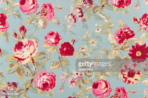 Halifax Rose Sage Close Up Antique Floral Fabric
