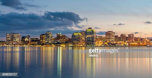 Halifax Skyline at Night, Panorama, Canada
