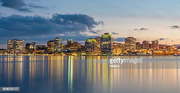 Halifax Skyline at Night, Panorama, Canada
