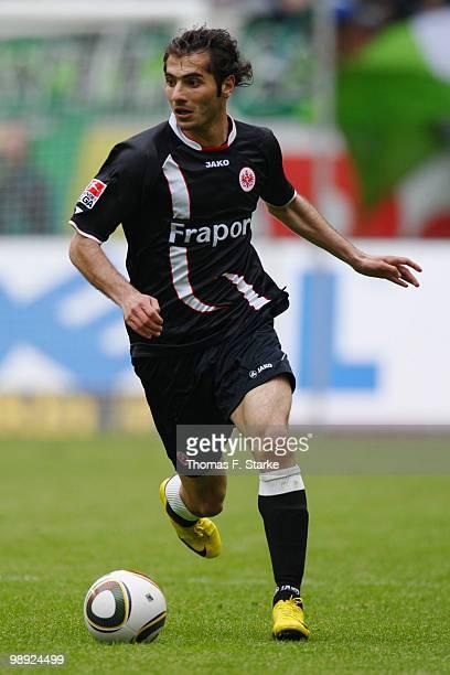 Halil Altintop of Frankfurt runs with the ball during the Bundesliga match between VfL Wolfsburg and Eintracht Frankfurt at Volkswagen Arena on May 8...