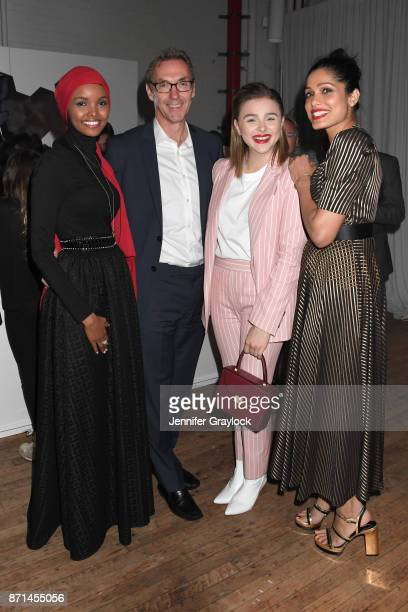 Halima Aden Forevermark President Charles Stanley Chloe Grace Moretz and Freida Pinto attend the Forevermark Tribute event on November 7 2017 in New...