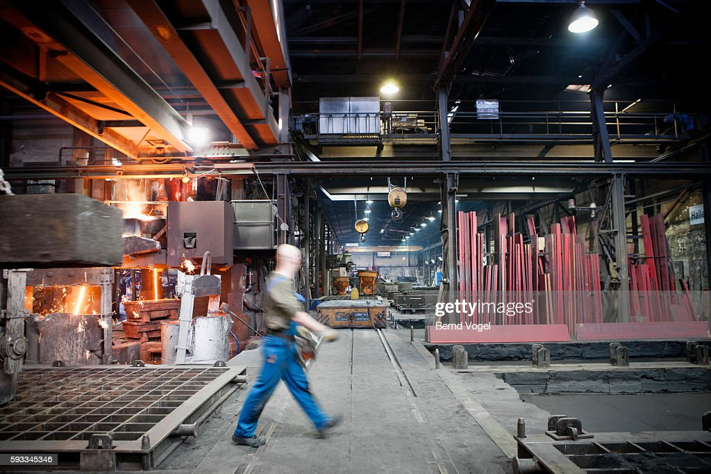hall in a steel mill