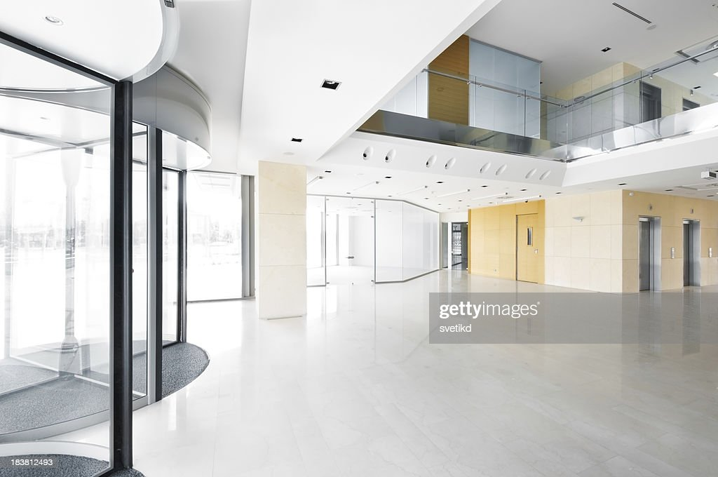 Hall in the office building.