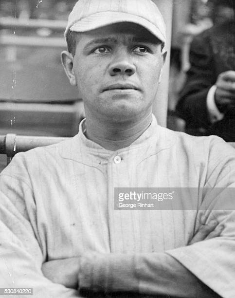 Hall of Fame baseball player Babe Ruth shown here in his early days with the Boston Red Sox where he started out as a pitcher
