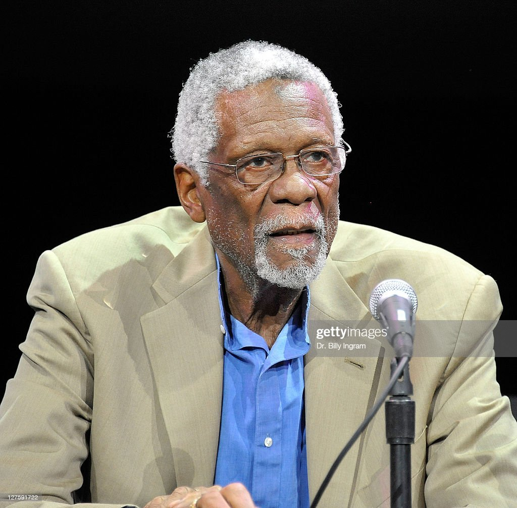 Hall of Fame Basketball Player <a gi-track='captionPersonalityLinkClicked' href=/galleries/search?phrase=Bill+Russell+-+Basketball+Player&family=editorial&specificpeople=11524303 ng-click='$event.stopPropagation()'>Bill Russell</a> arrives at the NBA All-Star screening of 'on the Shoulders Of Giants - The Story of the Greatest Basketball Team You've Never Heard of' at Belasco Theatre on February 17, 2011 in Los Angeles, California.