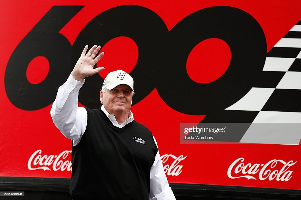 Hall of Fame inductee and team owner Rick Hendrick is introduced prior to the NASCAR Sprint Cup Series Coca-Cola 600 at Charlotte Motor Speedway on May 29, 2016 in Charlotte, North Carolina.