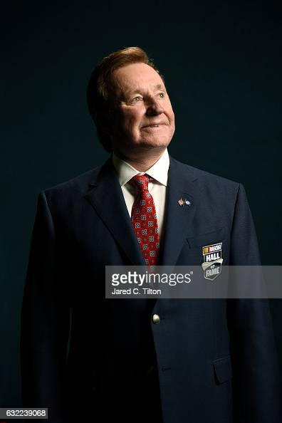 Hall of Fame inductee Richard Childress poses for a portrait prior to the NASCAR Hall of Fame Class of 2017 Induction Ceremony at NASCAR Hall of Fame...