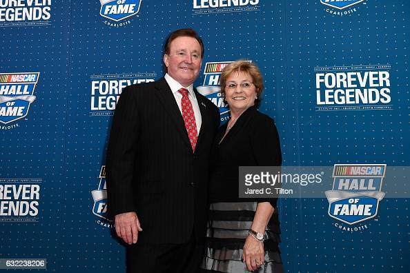 Hall of Fame inductee Richard Childress poses on the red carpet with his wife Judy prior to the NASCAR Hall of Fame Class of 2017 Induction Ceremony...