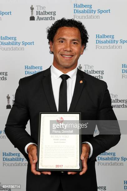 Hall of Fame Inductee Ruben Wiki for Rugby League at the 54th Halberg Awards at Vector Arena on February 9 2017 in Auckland New Zealand