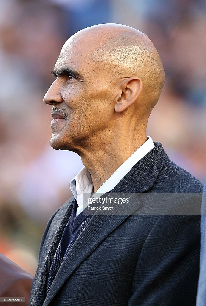 Hall of Fame Inductee Tony Dungy looks on prior to Super Bowl 50 between the Denver Broncos and the Carolina Panthers at Levi's Stadium on February 7, 2016 in Santa Clara, California.