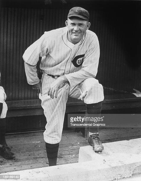 Hall of Fame infielder and manager Rogers Hornsby of the Chicago Cubs pauses for a photo in the dugout at Wrigley Field in Chicago IL in 1931