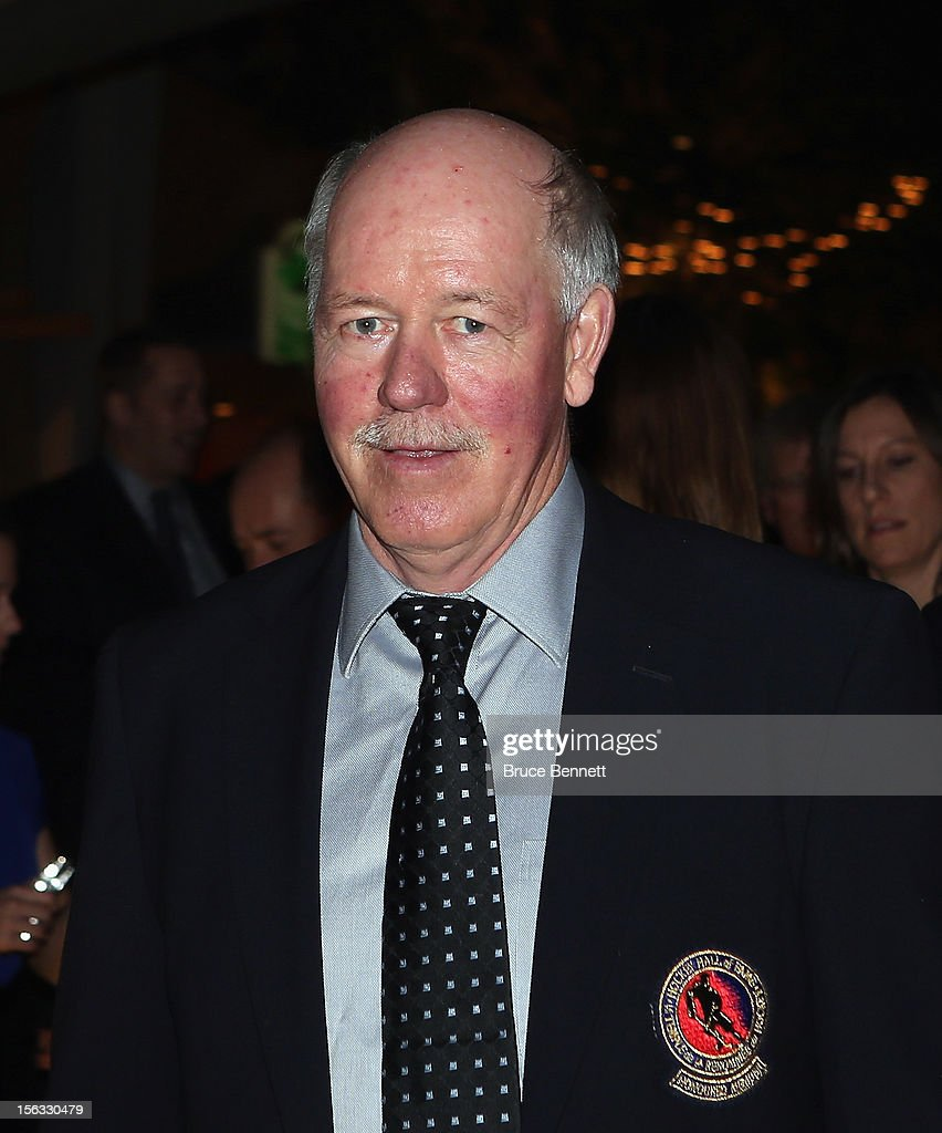 Hall of Fame member Billy Smith arrives for the Hockey Hall of Fame induction ceremony at Brookfield Place on November 12, 2012 in Toronto, Canada.