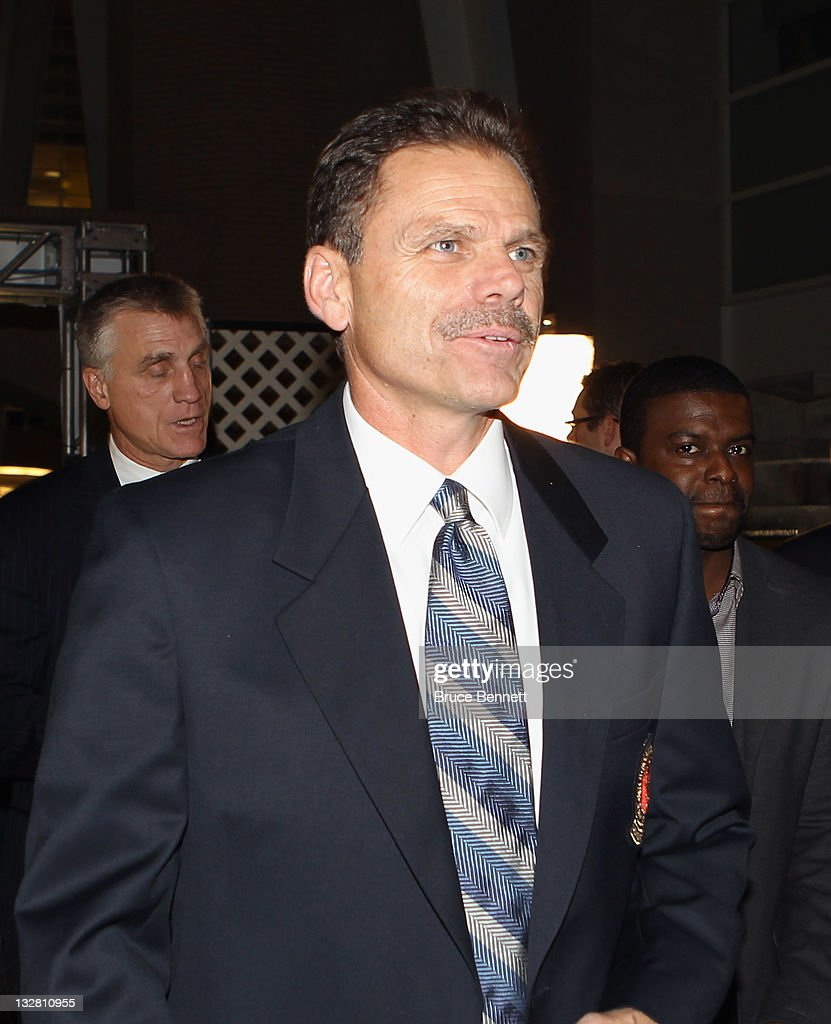Hall of Fame member Mike Gartner walks the red carpet prior to the 2011 Hockey Hall of Fame Induction ceremony at the Hockey Hall Of Fame on November 14, 2011 in Toronto, Ontario, Canada.