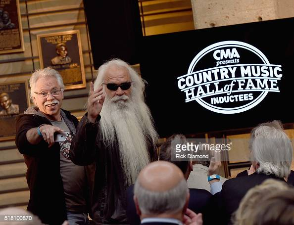 Hall of Fame members/Oak Ridge Boys Joe Bonsall and William Lee Goldin attend the CMA Presentation of The 2016 Country Music Hall Of Fame Inductees...