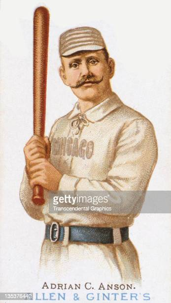 Hall of Famer Adrian 'Cap' Anson appears on a cigarette card from the Allen Ginter Company printed in 1888 in New York City