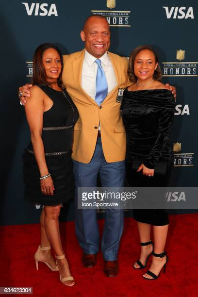 Hall of Famer Aeneas Williams on the Red Carpet at the 2017 NFL Honors on February 04 at the Wortham Theater Center in Houston Texas