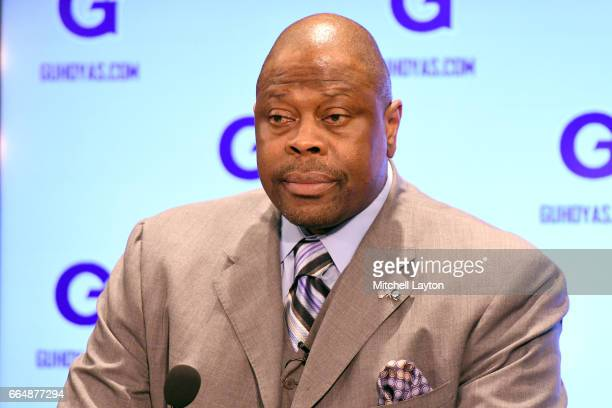 Hall of Famer and former Georgetown Hoyas player Patrick Ewing is introduced as the Georgetown Hoyas' new head basketball coach at John Thompson Jr...