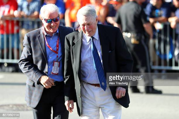 Hall of Famer Brooks Robinson arrives during the 2017 Hall of Fame Parade of Legends at the National Baseball Hall of Fame on Saturday July 29 2017...