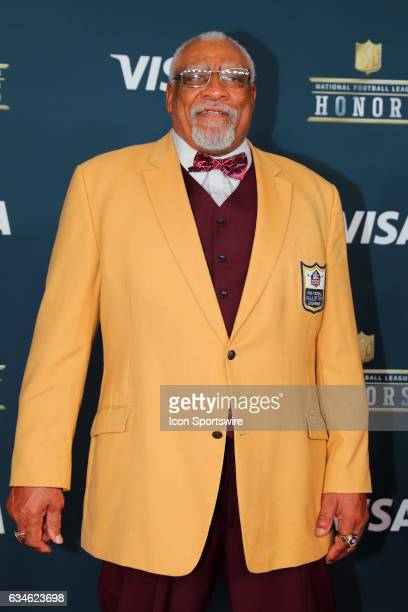 Hall of Famer Claude Humphrey on the Red Carpet at the 2017 NFL Honors on February 04 at the Wortham Theater Center in Houston Texas