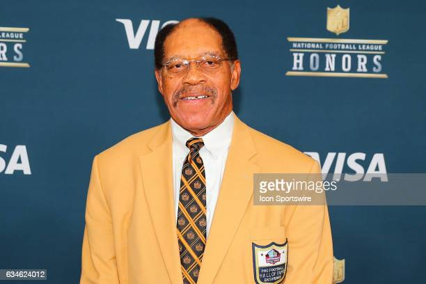 Hall of Famer Elvin Bethea on the Red Carpet at the 2017 NFL Honors on February 04 at the Wortham Theater Center in Houston Texas