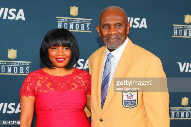 Hall of Famer Harry Carson on the Red Carpet at the 2017 NFL Honors on February 04 at the Wortham Theater Center in Houston Texas
