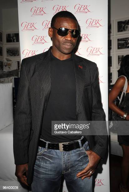 Hall of Famer Michael Irvin attends the GBK Gift Lounge at Player's Press PreSuper Bowl Party at Sagamore Hotel on February 3 2010 in Miami Beach...