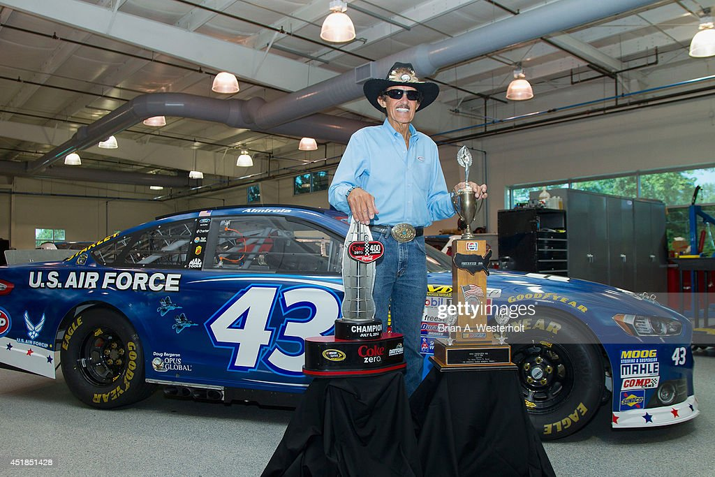 Richard Petty Celebrates Coke Zero 400 Victory Getty Images