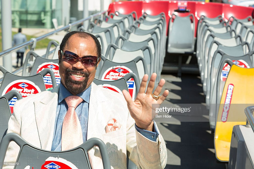Hall Of Famer Walt 'Clyde' Frazier attends Gray Line New York Honors NBA Hall Of Famer Walt 'Clyde' Frazier at Pier 78 on September 19 2012 in New...