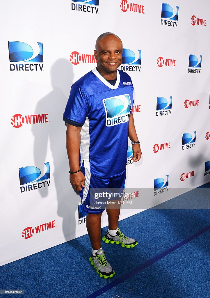 Hall of Famer Warren Moon attends DIRECTV'S Seventh Annual Celebrity Beach Bowl at DTV SuperFan Stadium at Mardi Gras World on February 2, 2013 in New Orleans, Louisiana.